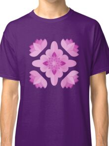 Pink Floral Classic T-Shirt