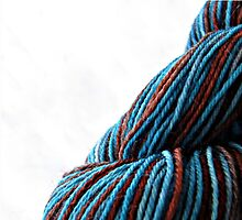 Brown and Blue Skein by PprmntMochaMama