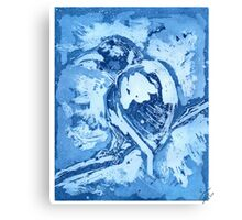 Bird on a Wire (Blue) Canvas Print