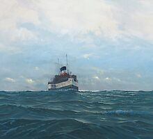 Paddle Steamer Waverley by Richard Picton