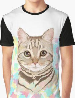 Tabby Kitten Splash Graphic T-Shirt