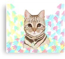Tabby Kitten Splash Canvas Print