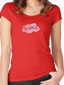 Gratitude Women's Fitted Scoop T-Shirt