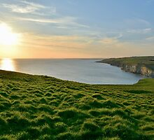 Witches Point Sunset, Southerndown by Paula J James