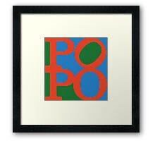 POPO - german 4 BOTTY, sexy bottom Framed Print