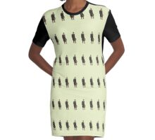 John Watson Victorian Pattern Graphic T-Shirt Dress