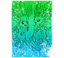 Pokemon - Glaceon and Leafeon Poster