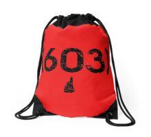 Area Code 603 New Hampshire Drawstring Bag