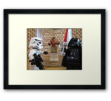 Dave Stormtrooper its a Trap Framed Print