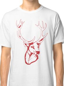 Deer Painting Drawing Classic T-Shirt