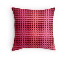 Red Mesh Throw Pillow
