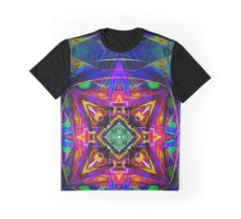Mandala Digital Nu Dop invert Graphic T-Shirt