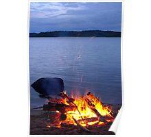Midsummer bonfire Poster