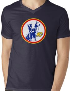 KANSAS CITY SCOUTS HOCKEY RETRO Mens V-Neck T-Shirt