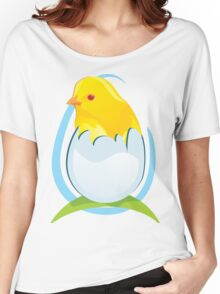 chicken in egg Women's Relaxed Fit T-Shirt