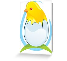 chicken in egg Greeting Card