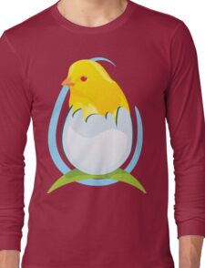 cute colored chicken Long Sleeve T-Shirt