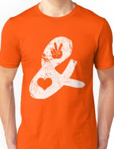 Peace & Love  Unisex T-Shirt