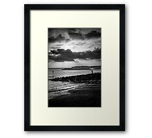 At The Setting Of The Sun Framed Print
