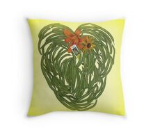 Beans and Blooms Throw Pillow