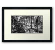 Broadway in Saratoga Springs, New York, ca 1915 (16:9 crop) Black & White version Framed Print