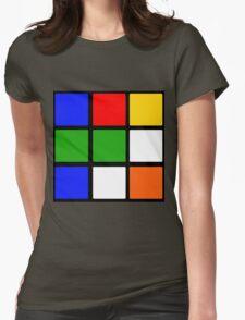 Rubik's Cube Design Womens Fitted T-Shirt