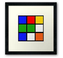 Rubik's Cube Design Framed Print