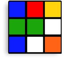 Rubik's Cube Design Canvas Print
