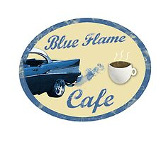 Blue Flame Cafe by RockSky-Comics