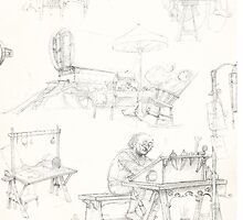 The Hobbit: shire sketches by Adam Dens