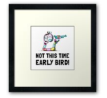 Early Bird Worm Framed Print