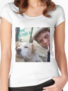 Mac Demarco's dog selfie Women's Fitted Scoop T-Shirt