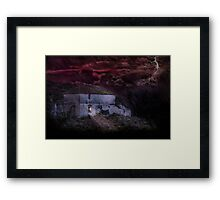 Welcoming light in a storm Framed Print