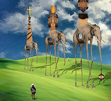 """The Great Exodus of the Holy Pachyderms by Wayman """"@wstairs"""" Stairs"""