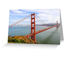 San Francisco California USA, Golden Gate Bridge Greeting Card