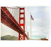 San Francisco California USA, Golden Gate Bridge Poster
