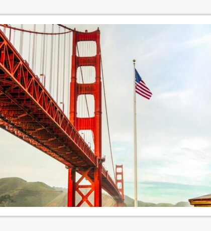 San Francisco California USA, Golden Gate Bridge Sticker