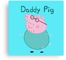 daddy pig up face Canvas Print