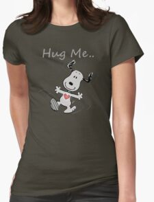 Snoopy Need A Hug Womens Fitted T-Shirt
