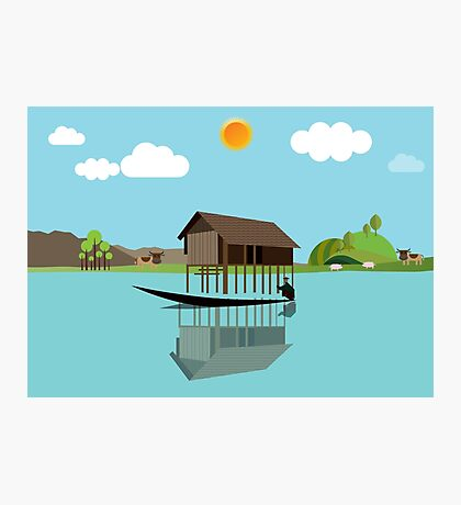 House above the water Photographic Print