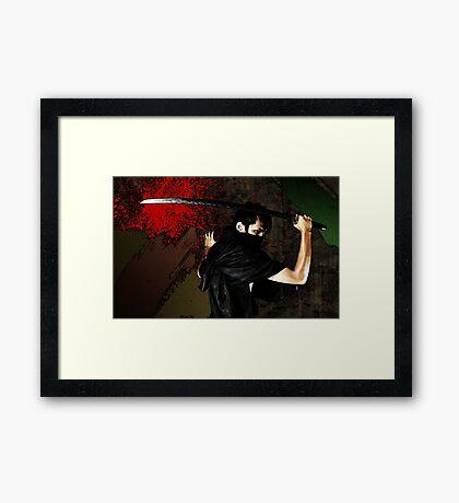 Samurai Samurai Framed Print