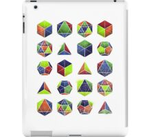 Sacred shapes and colors pop geometry  iPad Case/Skin