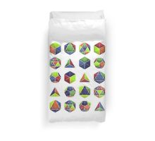 Sacred shapes and colors pop geometry  Duvet Cover