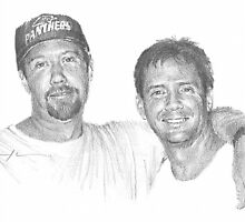 friends drawing by Mike Theuer