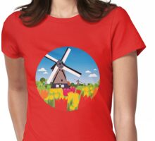 Dutch landscape  Womens Fitted T-Shirt