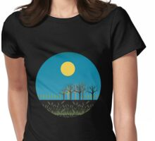 Field at night  Womens Fitted T-Shirt