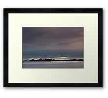 sunset, cruden bay Framed Print