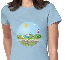Landscape of Denmark  Womens Fitted T-Shirt