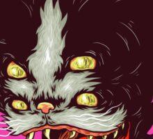 crazy cat Sticker