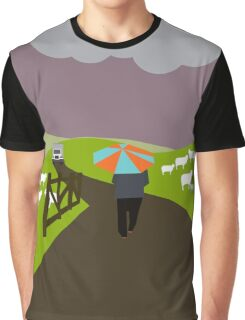 Winter in the village  Graphic T-Shirt